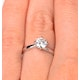 Lily Certified Lab Diamond Engagement Ring 1.00ct H/SI1 18K White Gold - image 4