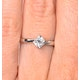 Lily Certified Lab Diamond Engagement Ring 0.50ct H/SI1 18K White Gold - image 4