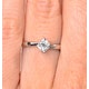 Engagement Ring Certified Lily 18K White Gold Diamond 0.50CT - image 4