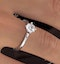Certified 0.70CT Lily 18K White Gold Engagement Ring E/VS1 - image 4