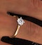 Certified 0.70CT Lily 18K Gold Engagement Ring E/VS2 - image 4