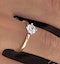 Certified 0.70CT Lily 18K Gold Engagement Ring G/SI2 - image 4