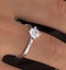 Certified 0.70CT Lily 18K White Gold Engagement Ring G/SI2 - image 4