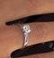 Engagement Ring Certified 0.90CT Petra Platinum G/SI1 - image 4