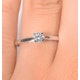 Engagement Ring Certified Petra 18K White Gold Diamond  0.25CT-F-G/VS - image 4