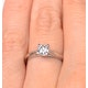 Engagement Ring Certified 0.50CT Petra 18K White Gold  E/VS2 - image 4