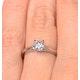 Engagement Ring Certified 0.50CT Petra Platinum  G/SI1 - image 4