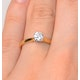 Engagement Ring Certified 0.50CT Petra 18K Gold  G/SI2 - image 4