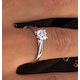 Engagement Ring Certified 0.70CT Petra 18K White Gold  E/VS2 - image 4