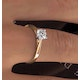 Engagement Ring Certified 0.70CT Petra 18K Gold  G/SI1 - image 4