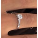 Engagement Ring Certified 0.70CT Petra Platinum  G/SI2 - image 4