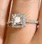 Halo Engagement Ring Ella 0.82ct G/Vs Princess Diamond 18K White Gold - image 4