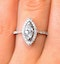 Halo Engagement Ring Ella 0.84ct H/Si Marquise Diamond 18K White Gold - image 3