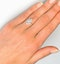 Halo Engagement Ring Ella 0.84ct G/VS Marquise Diamond 18K White Gold - image 4