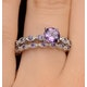 Stacking Ring Set Amethyst in Sterling Silver - UT33228 - image 4