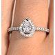 Halo Engagement Ring Ella 0.81ct VS Pear Shape Diamond 18K White Gold - image 4