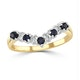 Sapphire 0.25ct And Diamond 9K Gold Ring - image 2