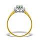 Emerald 6 x 4mm And Diamond 9K Gold Ring  A3207 - image 2