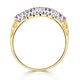 0.40ct Pink Sapphire and Diamond Ring 9K Yellow Gold - image 3