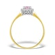 18K Gold Diamond and Pink Sapphire Ring 0.05ct - image 2