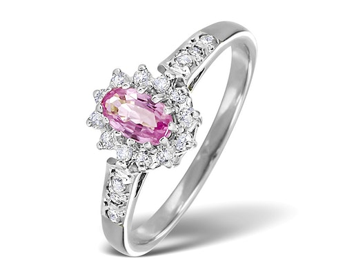 Oval Cut Pink Sapphire Rings